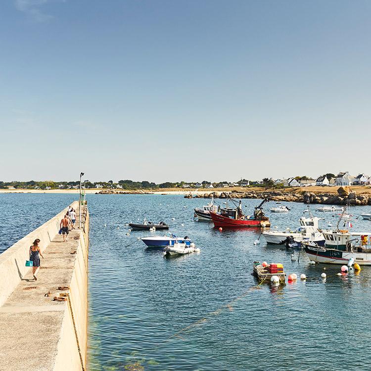 La vente directe de poissons sur le port de Trévignon