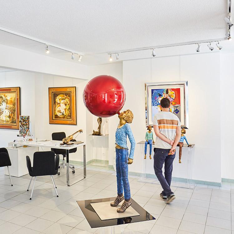 Galleries and artist studios