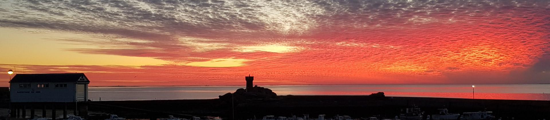 Sunset at Trévignon