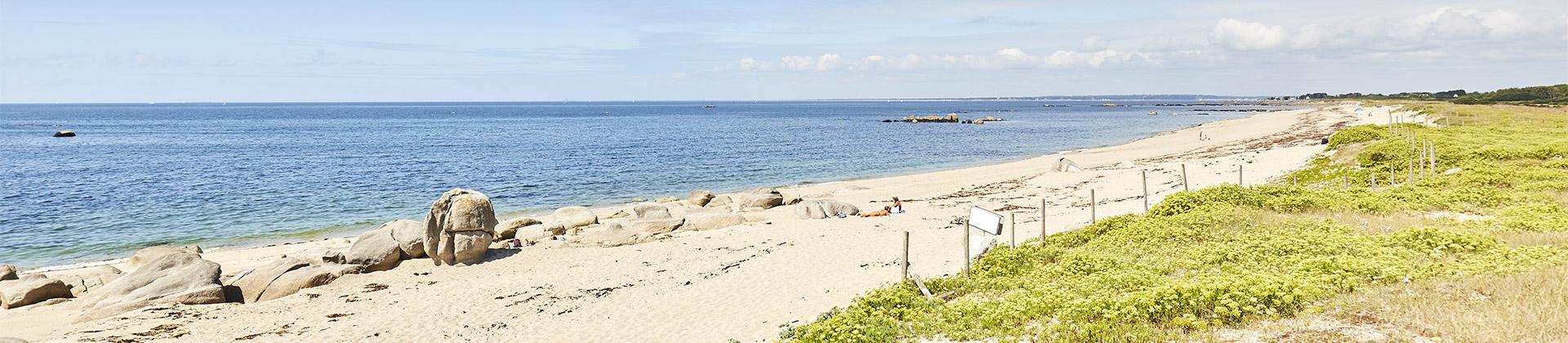 La plage naturiste de Kerannouat à Trégunc