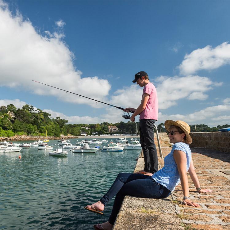 Les trois univers pêche : mer, rivière, étang