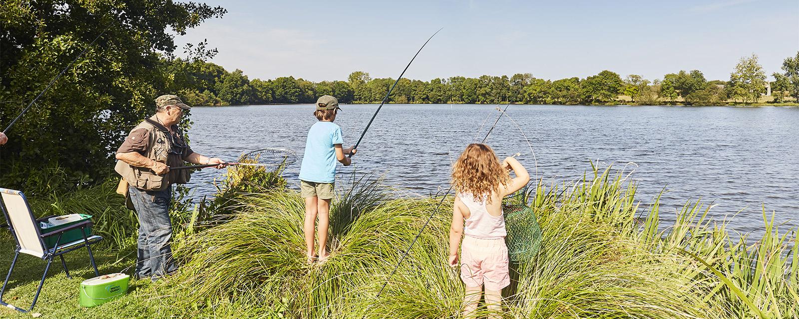 Pêche en famille à Rosporden
