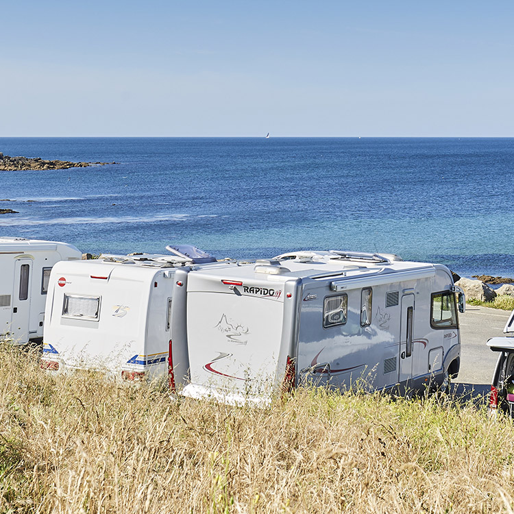 Camper areas in south Brittany