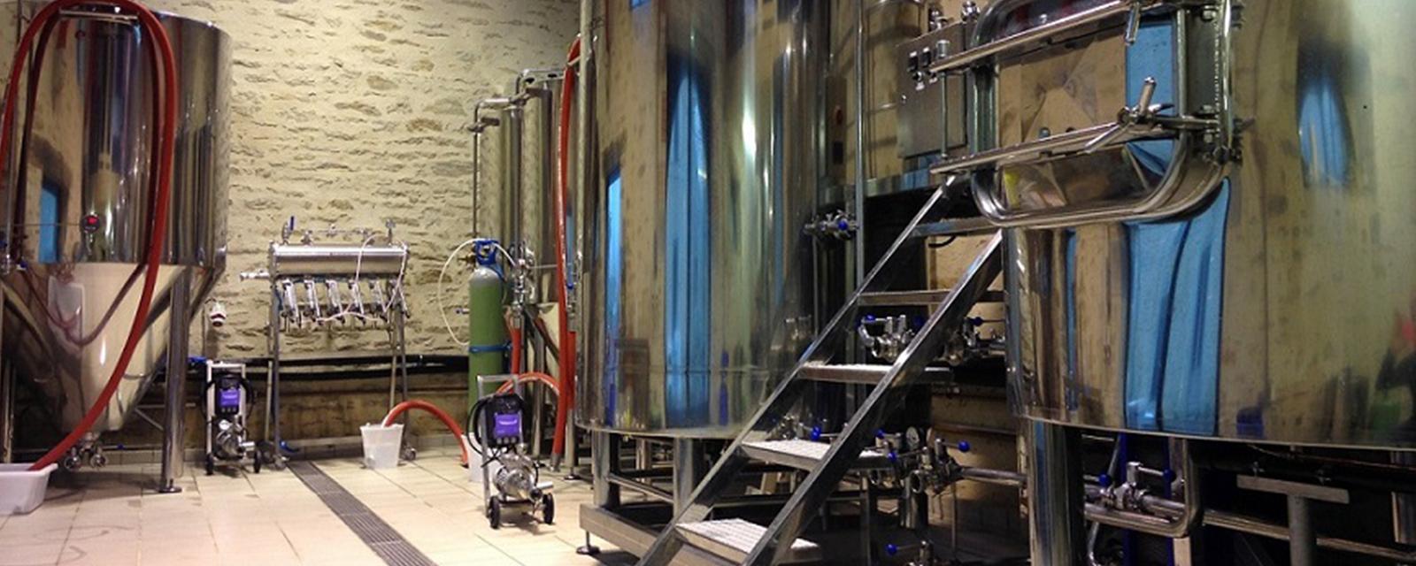 Wannen der Cornouaille Brauerei in Concarneau