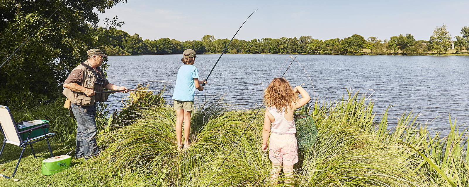 Partie de pêche aux étangs